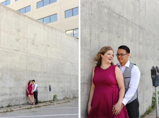 cement wall couple photos